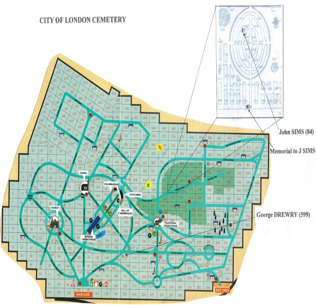 City of London Cemetery map