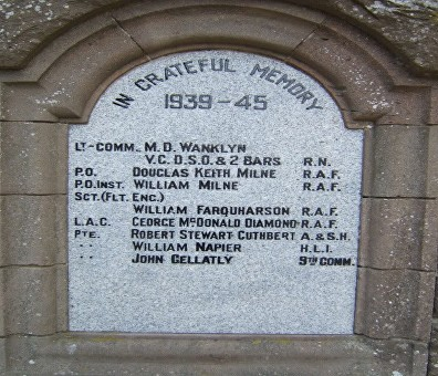 wanklyn memorial meigle scotland