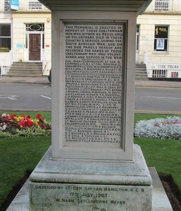 boer war memorial cheltenham