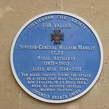 manley blue plaque
