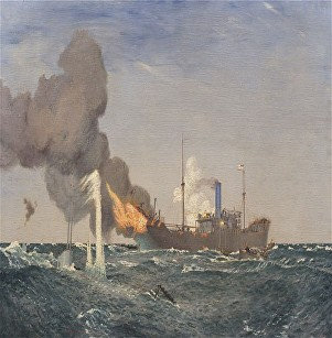 HMS DUNRAVEN PAINTING