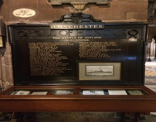 hms chester memorial chester cathedral
