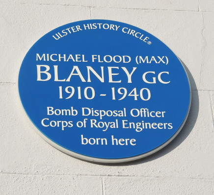 blaney blue plaque