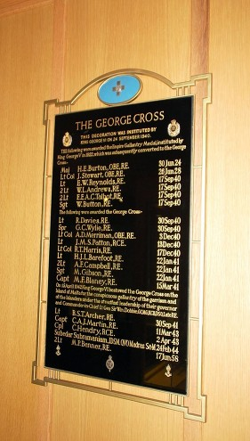 george cross board royal engineers