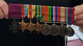 starcevich medals close up