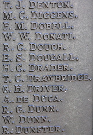 dougall tunbridge wells war memorial bd
