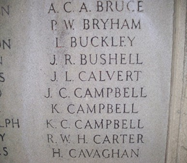 campbell k sedbergh school war memorial ts