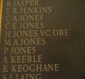 h jones falklands memorial st pauls ts