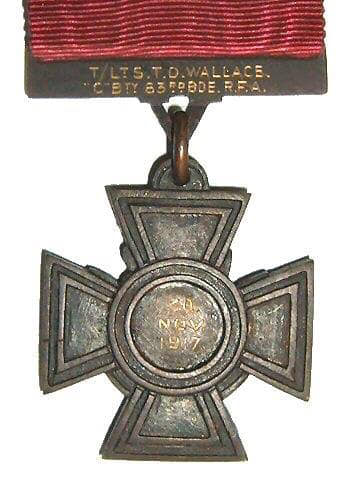 wallace vc medal reverse