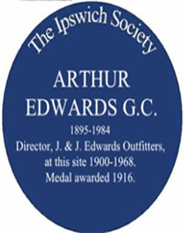 edwards gc blue plaque